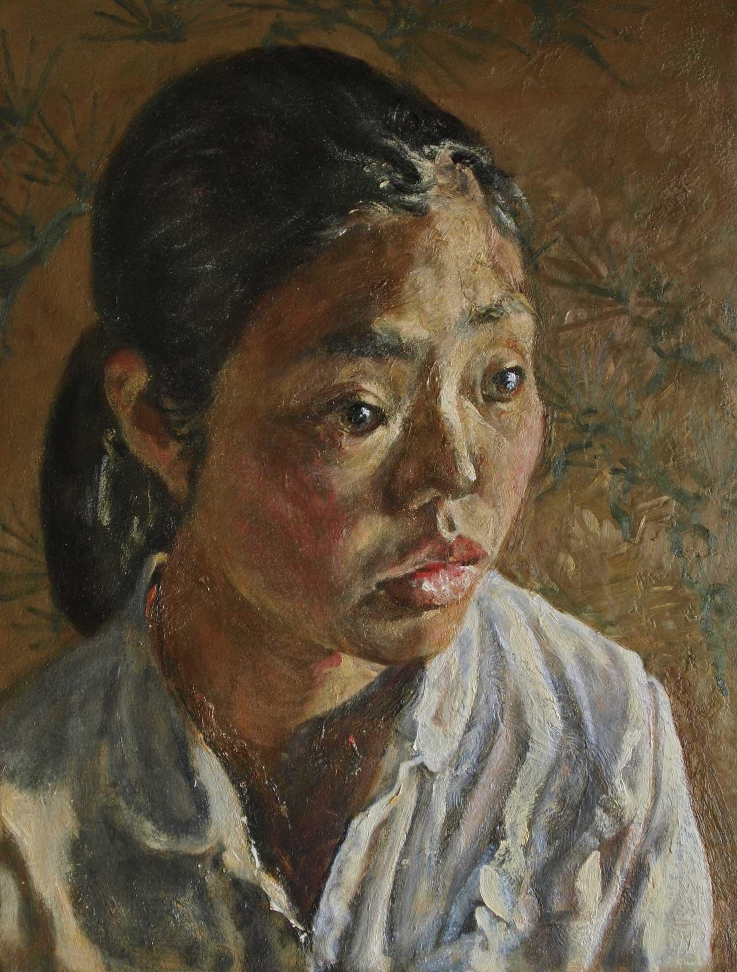 Kouta Sasai - Woman in Front of a Fusuma Door